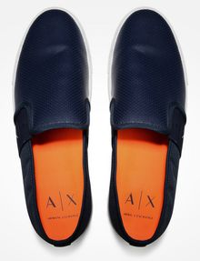ARMANI EXCHANGE PERFORATED SLIP-ON SNEAKERS SLIP-ON Man d
