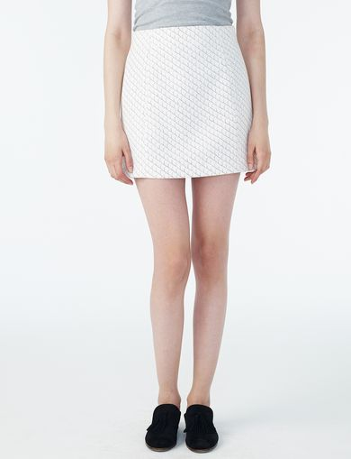 ARMANI EXCHANGE PRINTED SUITING MINI SKIRT Woman front
