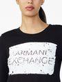 ARMANI EXCHANGE REVERSIBLE A|X SEQUIN CREW Fleece Top D e