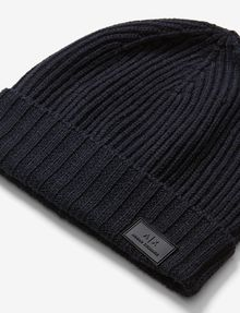 ARMANI EXCHANGE RIB-KNIT LOGO BEANIE Hat U e