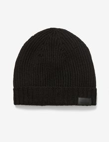 ARMANI EXCHANGE RIB-KNIT LOGO BEANIE Hat Man f