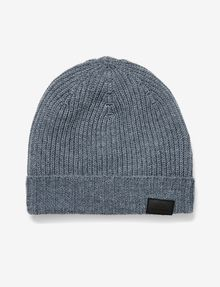 ARMANI EXCHANGE RIB-KNIT LOGO BEANIE Hat U f
