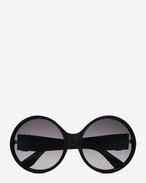 SAINT LAURENT Sunglasses D monogram 1 sunglasses in shiny black and matte black acetate with grey gradient lenses f