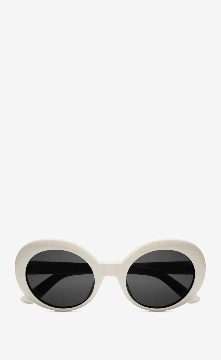 5394041421 new wave 98 california sunglasses in shiny ivory acetate with smoke lenses