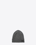 SAINT LAURENT Hats D Knit Hat in Grey Cashmere f