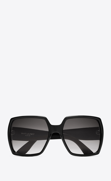 SAINT LAURENT Sunglasses D MONOGRAM M2 Sunglasses in Shiny Black Acetate and Matte Black Metal with Grey Gradient Lenses a_V4