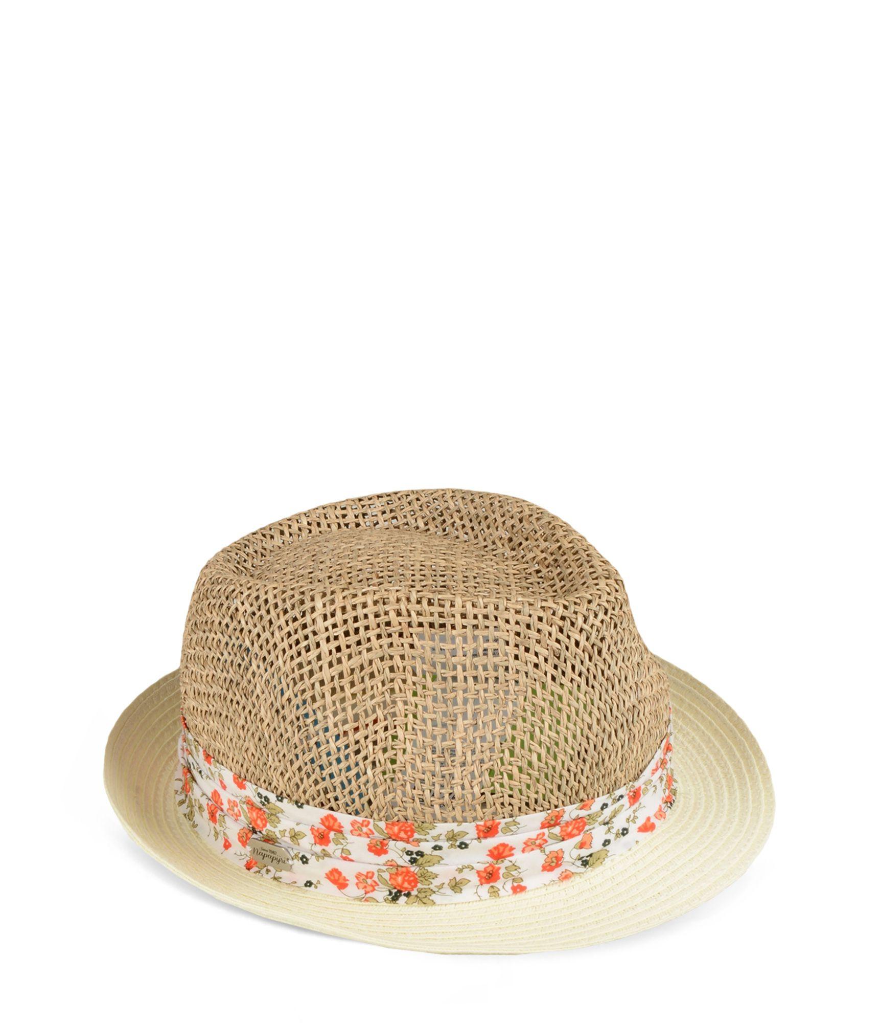 Artikel klicken und genauer betrachten! - Panama-Strohhut für Damen Bedrucktes Gewebtes Band Grafikdetails | im Online Shop kaufen