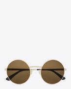 SAINT LAURENT Sunglasses E クラシック SL 136 ゼロ サングラス(セミマットアンティークゴールド/メタル製/タバコカラーレンズ) f