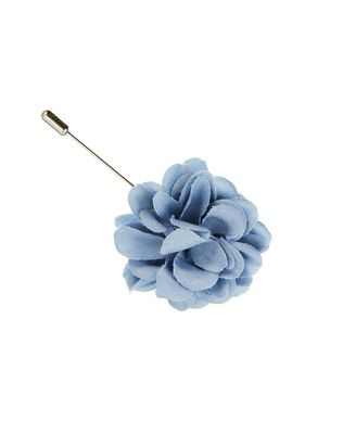 WOOL AND SILK ROSE TIE PIN