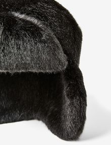 ARMANI EXCHANGE FAUX-FUR FLAP HAT Hat D e