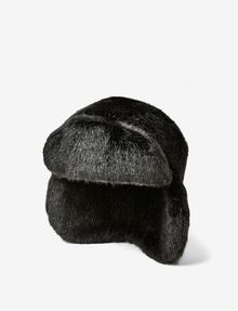 ARMANI EXCHANGE FAUX-FUR FLAP HAT Hat D f