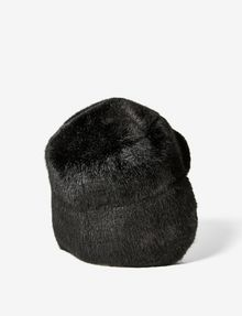 ARMANI EXCHANGE FAUX-FUR FLAP HAT Hat D r