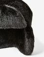 ARMANI EXCHANGE FAUX-FUR FLAP HAT Hat D e