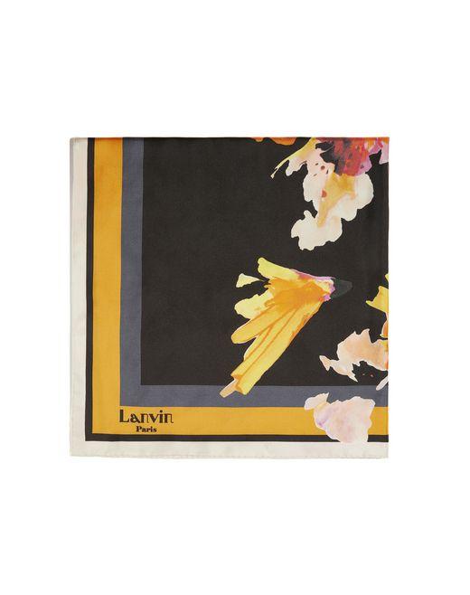 """lanvin """"orchidées"""" scarf women"""