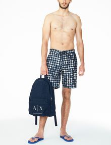 ARMANI EXCHANGE WAVE HOUNDSTOOTH SWIM SHORT Swim U a