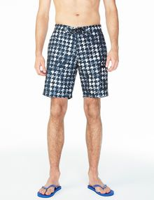 ARMANI EXCHANGE WAVE HOUNDSTOOTH SWIM SHORT Swim Man f