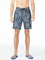ARMANI EXCHANGE WAVE HOUNDSTOOTH SWIM SHORT Swim U f