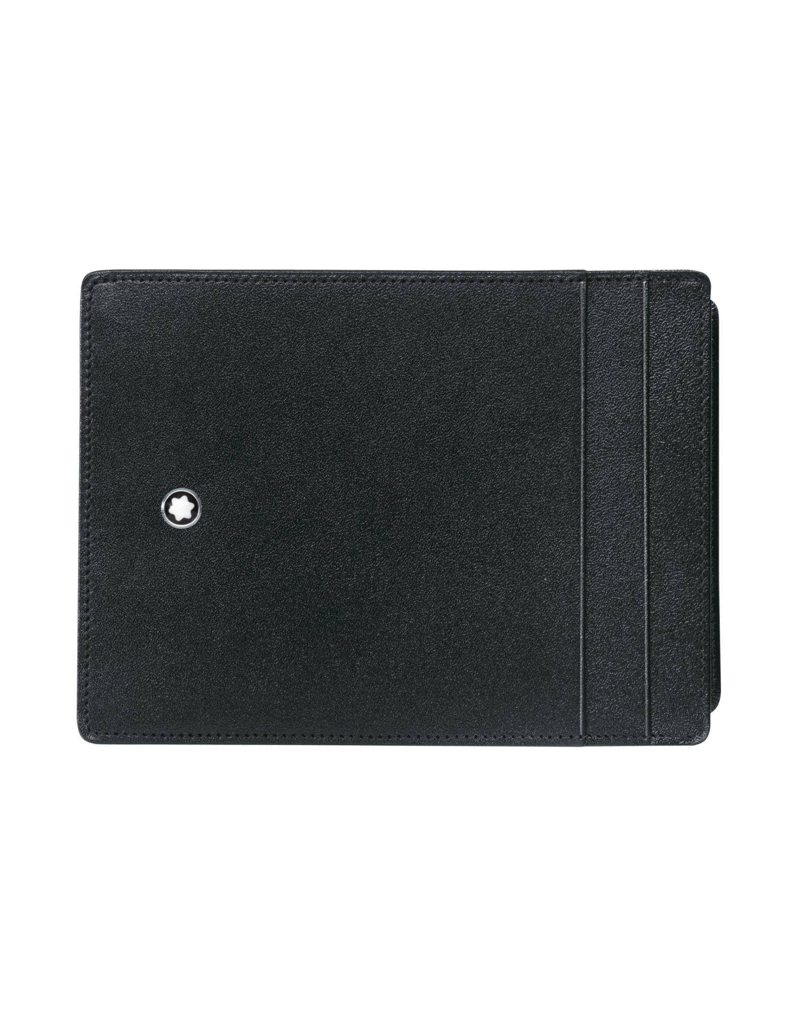 《送料無料》MONTBLANC メンズ 財布 ブラック 柔らかめの牛革 Meisterst?ck Pocket 4cc ID Card Black