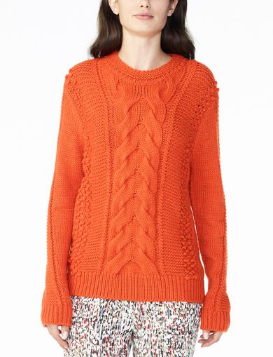 CHUNKY CABLE WOOL-BLEND CREW