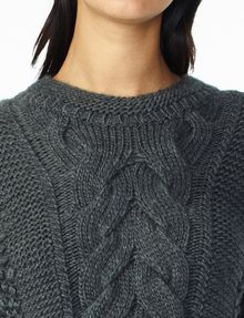 ARMANI EXCHANGE CHUNKY CABLE WOOL-BLEND CREW Pullover Woman e