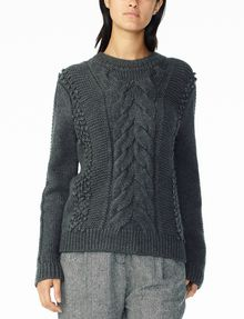 ARMANI EXCHANGE CHUNKY CABLE WOOL-BLEND CREW Pullover Woman f