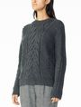 ARMANI EXCHANGE CHUNKY CABLE WOOL-BLEND CREW Pullover Woman d