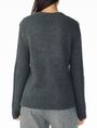 ARMANI EXCHANGE CHUNKY CABLE WOOL-BLEND CREW Pullover Woman r