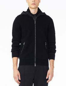 Armani Exchange NYLON HOOD FULL ZIP SWEATER, Layering for Men | A ...