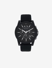 ARMANI EXCHANGE BLACK TECH SPORT CHRONO WATCH Uhr Herren f