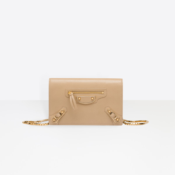 Classic Metallic Edge Chain Wallet