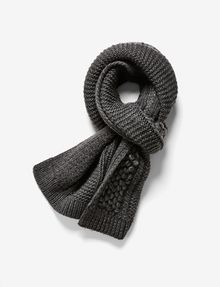 ARMANI EXCHANGE POPCORN-STITCH WOOL SCARF Scarf Woman f