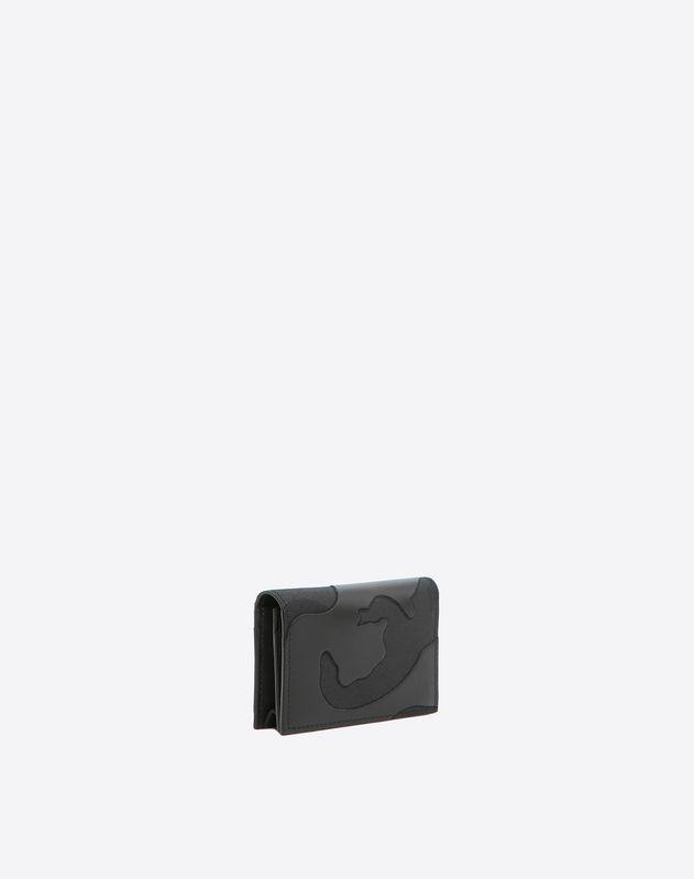 Portacarta Camouflage Noir