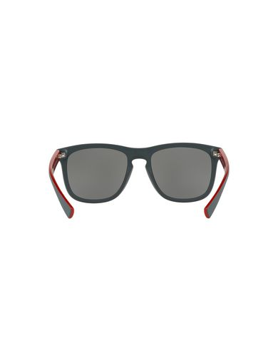BICOLOR RED-LINED RETRO SUNGLASSES