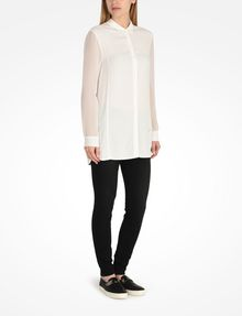 ARMANI EXCHANGE SHEER SLEEVE TUNIC L/S Woven Top Woman a