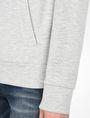 ARMANI EXCHANGE DEBOSSED LOGO HOODIE Fleece Jacket Woman e