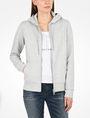 ARMANI EXCHANGE DEBOSSED LOGO HOODIE Fleece Jacket Woman f