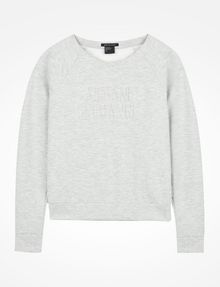 ARMANI EXCHANGE DEBOSSED LOGO SWEATSHIRT Fleece-Top Damen b