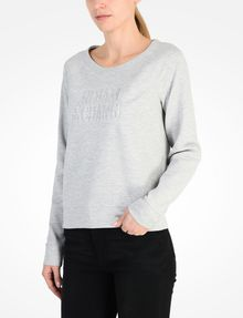 ARMANI EXCHANGE DEBOSSED LOGO SWEATSHIRT Fleece-Top Damen d