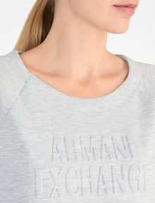 ARMANI EXCHANGE DEBOSSED LOGO SWEATSHIRT Fleece-Top Damen e