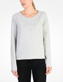 ARMANI EXCHANGE DEBOSSED LOGO SWEATSHIRT Fleece-Top Damen f