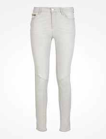 ARMANI EXCHANGE LIGHT GREY CROPPED MOTO SKINNY JEANS Skinny jeans D b