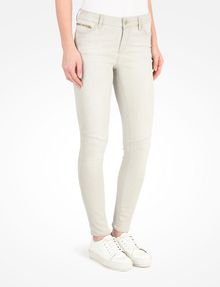 ARMANI EXCHANGE LIGHT GREY CROPPED MOTO SKINNY JEANS Skinny jeans D d