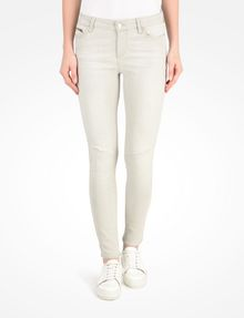 ARMANI EXCHANGE LIGHT GREY CROPPED MOTO SKINNY JEANS Skinny jeans D f