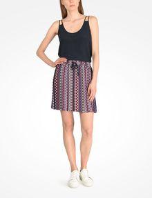 ARMANI EXCHANGE RETRO PRINT DRAWSTRING WAIST SKIRT Skirt Woman a