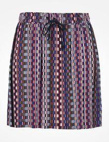 ARMANI EXCHANGE RETRO PRINT DRAWSTRING WAIST SKIRT Skirt Woman b