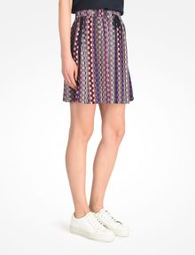 ARMANI EXCHANGE RETRO PRINT DRAWSTRING WAIST SKIRT Skirt Woman d
