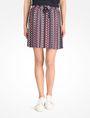 ARMANI EXCHANGE RETRO PRINT DRAWSTRING WAIST SKIRT Skirt Woman f