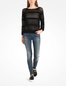 ARMANI EXCHANGE OPEN STITCH SWEATER Pullover Woman a