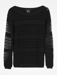 ARMANI EXCHANGE OPEN STITCH SWEATER Pullover D b