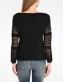 ARMANI EXCHANGE OPEN STITCH SWEATER Pullover D r